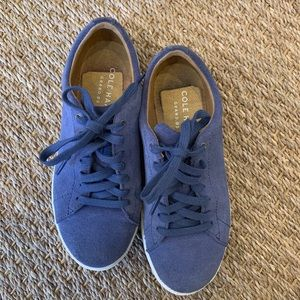 Cole Haan Blue Suede Sneakers Women's Size 5B
